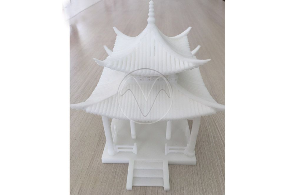 Building design work with SLA printed