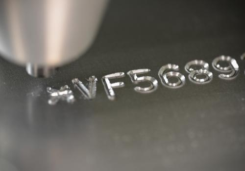An Example of Engraved Text on Machine Part